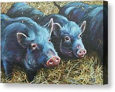 Oink by Louise  Brown - Oink Painting