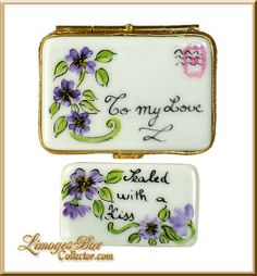 Love Letter Sealed With A Kiss Limoges Trinket Box (Artoria)