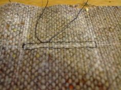 Chanel Jacket tutorial 4 - buttonholes