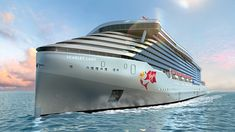 An illustration of Scarlett Lady, the first ship in Sir Richard Branson's new cruise fleet, Virgin Voyages The first ship in Sir Richard Branson's new Virgin Voyages cruise line will skip its… Richard Branson, Virgin Atlantic, Costa Maya, Scarlet, Cuba Travel, Cruise Travel, Royal Caribbean, Caribbean Cruise, Adult Only Cruises