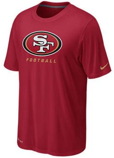 Nike san francisco 49ers chest embroidered logo t shirt black intl