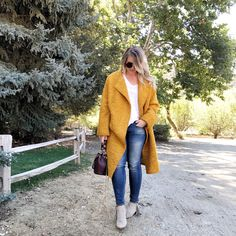 I am so desperate for a taste of Fall that last weekend I made Chris drive up to Oak Glen for a morning of cool weather and Fall fun. I was SO excited to be able to wear this jacket and be cool an…