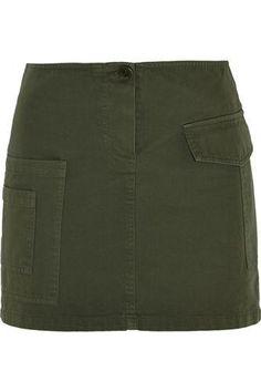Cotton-twill mini skirt #miniskirt #women #covetme #bandofoutsiders