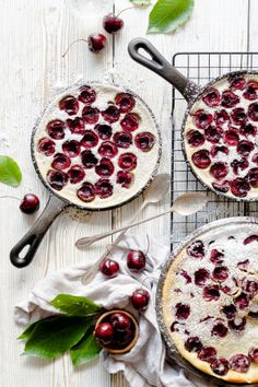 This Buttermilk & Cherry Clafoutis is the perfect way to use up those summer cherries for a simple and rustic dessert!