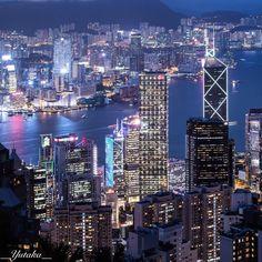 香港 ビクトリアピークよりビクトリアハーバーを望む  #HongKong #VictoriaPeak Hong Kong