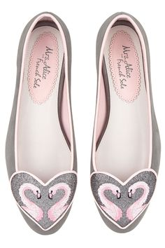 Flamingo heart slippers, £195, Mrs Alice for French Sole - HarpersBAZAAR.co.uk