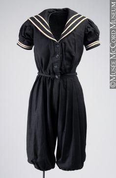 bathing suit ca. 1890-1900 via Musee McCord Museum