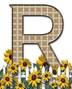 Letra con verja floral.....R