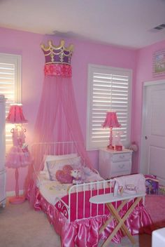 Princess Bedrooms My Little Princess Room Is Turning Out Tutu Cute Girls Princess Bedroom, Girls Bedroom, Bedroom Decor, Bedroom Ideas, Princess Curtains, Bedroom Furniture, Furniture Ideas, Pink Princess Room, Bedroom Designs