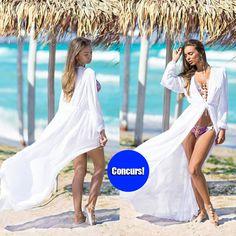 Giveaway - pareo de plaja lung din voal alb! - http://www.stilulmeu.com/giveaway-pareo-de-plaja-lung-din-voal/