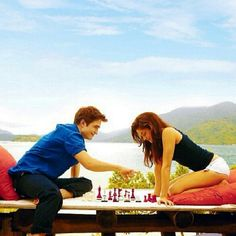 Edward and Bella playing chess @twilightlover1918