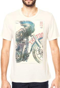 Camiseta Triton Moto Off white - Marca Triton