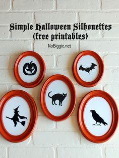 Halloween: sagome strega, gatto, pipistrello e zucca da stampare.