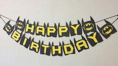 Batman cumpleaños Banner  Batman Party  tema de Batman