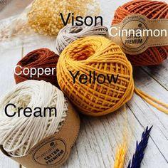 Macrame Mirror, Macrame Plant Hangers, Macrame Cord, Unique Colors, Vivid Colors, Cordon Macramé, Singles Twist, Macrame Supplies, Colored Rope