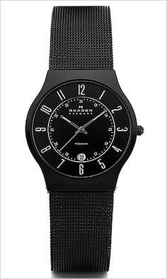 Skagen herren armbanduhr slimline titan 233xltmb