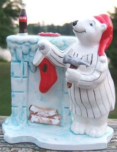 Coca-Cola Bear Cookie Jar #Coke #Christmas #Xmas