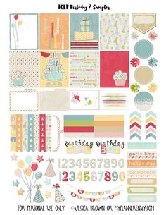 FREEBIE  Birthday 2 Sampler for the Erin Condren Life Planner