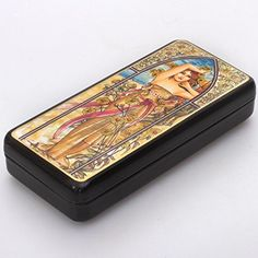 Beautiful Handpainted Papiermache Lacquer Box for Jewelry Time of Day Day Great Gift for Women *** Continue to the product at the image link.