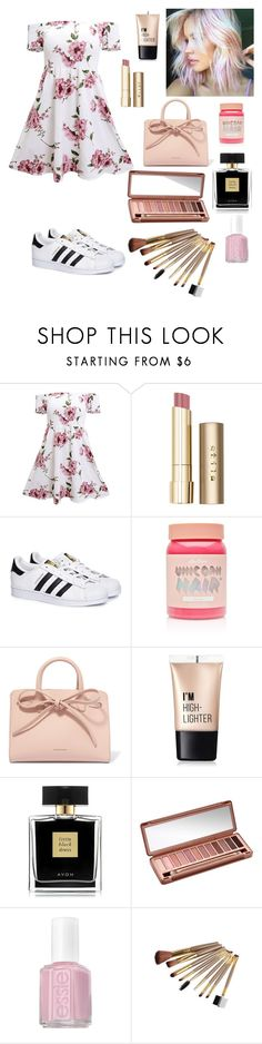 """""""Flowers 🌺"""" by silviamachado20 ❤ liked on Polyvore featuring Stila, adidas, Lime Crime, Mansur Gavriel, Charlotte Russe, Avon, Urban Decay and Essie"""