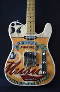 fender telecaster music hand painted by Miriam Paternoster