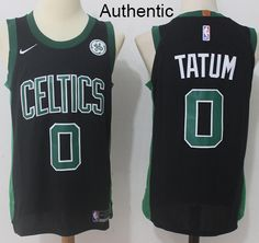 e8fed0d56 Nike Celtics  0 Jayson Tatum Black NBA Authentic Statement Edition Jersey