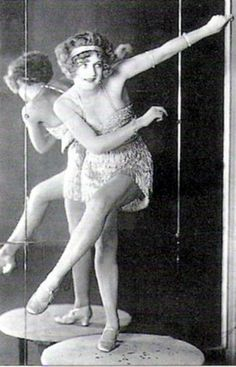 Bee Jackson, the Charleston Queen, at the Piccadilly Hotel Cabaret! c.1925. S):
