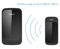 Wireless Doorbell, AVANTEK DT42 Digital Door Bell Kit, 36 Chimes, 1000ft / 300m Range, 1 Touch Button & 2 Plug-in Receivers, Black: Amazon.co.uk: DIY & Tools
