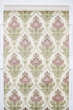 authentic vintage wallpaper from the 70s, damask design Flock Wallpaper, Retro Wallpaper, Hallway Paint, Golden Harvest, Brown Flowers, Different Patterns, Swirls, Damask, Etsy Store