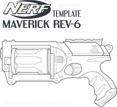 Nerf retaliator template this means nerf war pinterest for Gun coloring pages printables
