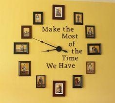 写真たてに飾るだけじゃないインテリアにもなる!かわいいレイアウト:時計にしちゃう