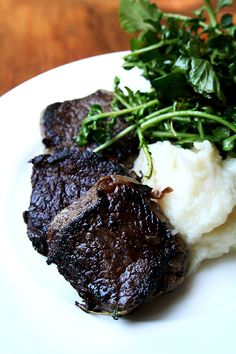 Venison with Turnip and Apple Purée
