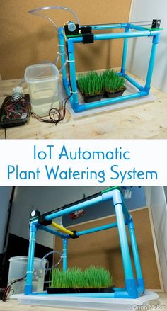 Make an IoT automatic plant watering system which can be controlled through smartphone. Aquaponics Greenhouse, Aquaponics Diy, Aquaponics System, Hydroponic Gardening, Organic Gardening, Plant Watering System, Pi Projects, Plant Projects, Water Systems