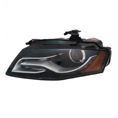 TYC 20-9042-01 | 2009 Audi A4 Chrome/Clear HID Headlights for Coupe/Sedan/Hatchback/Wagon