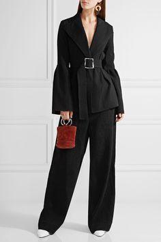 Rejina Pyo - Claire Belted Cloqué Blazer - Black - UK