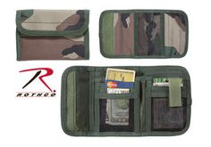 New Deluxe Woodland Camo Nylon Tri Fold Commando Wallet w Badge ID Holder | eBay