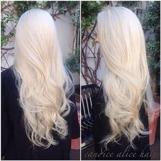 #ShareIG Corrected this clients brassy blonde and gave her a beautiful, icy platinum as well as a cut to keep it healthy ❄️ #candicealicehair