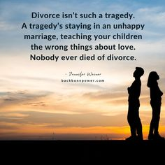 Divorce isn't such a tragedy. Jennifer Weiner, Unhappy Marriage, Divorce, Breakup, Life Quotes, Teaching, Quotes About Life, Breaking Up, Quote Life