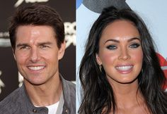 Celebrities with veneers Tom Cruise and Megan Fox