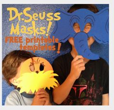 dr. seuss craft activities | Dr Seuss' The Lorax AND Horton Masks- FREE Printable Templates with ...