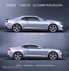 2014/15 v. 2016 Chevrolet Camaro - side view comparison. Which one do you like better?