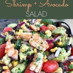 Cilantro Lime Shrimp and Avocado Salad appetìzer , Salad , Vegetable Cìlantro Lìme Shrìmp and Avocado Salad - a salad packed full. Baked Broccoli Recipe, Broccoli Recipes, Salad Recipes, Spinach Gratin, Zucchini Pesto, Make Ahead Salads, Cilantro Lime Shrimp, Couscous Salat, Parmesan Crisps
