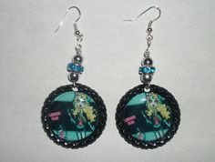 Lagoona Blue Monster High Bottle Cap Earrings by NocturnalFashions, $7.00