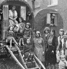 Gypsies at Yarm fair, 1930s