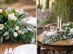 garland runner Winter Inspiration - Winter Wedding Photos by: http://jenfujphotography.com/ Florals by Bella Bloom Florals - Sherwood, Oregon