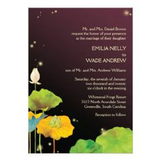 firefly wedding invitations | Romantic Firefly Night Cute Wedding Invitations