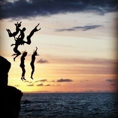 You only live once!?? #jump #cliff #yolo #dare #amazing #sunset #beach