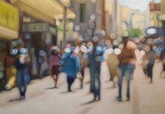 Im ersten Augenblick hielt ich diese Gemälde für unscharfe Fotografie, dann hab' ich mir die Artworks vom südafrikanischen Maler Philip Barlow, der ursprünglich aus dem Streetart-Genre kommt und riesige Murals an die Wände brachte, etwas genauer angesehen. Beeinflusst von der Technik seiner Murals begann er, sich diesen zeitgenössischen Style anzueigenen, ganz konventionell, mit Öl auf Leinwand. Ich kann mir nicht... Weiterlesen