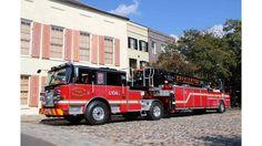 Charleston SC Fire Department - Pierce Arrow XT 100 foot aerial tiller  #Setcom #Rescue