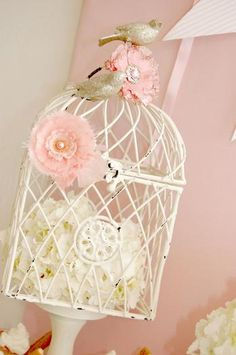 shabby chic girl baby shower decor